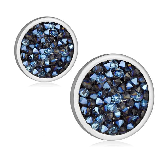 Ocelové náušnice s krystaly Crystals from Swarovski®, BERMUDA BLUE LV6002-BB