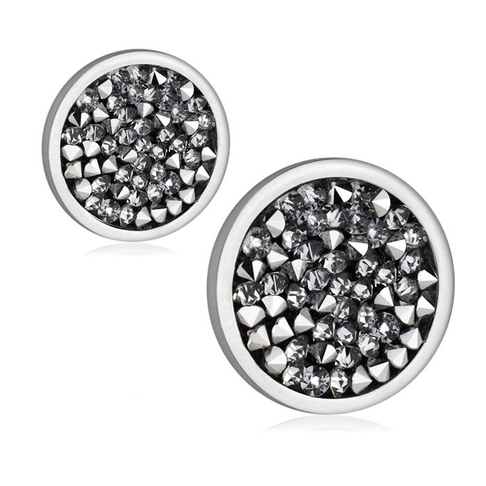 Ocelové náušnice s krystaly Crystals from Swarovski®, LIGHT CHROME LV6002-CHR