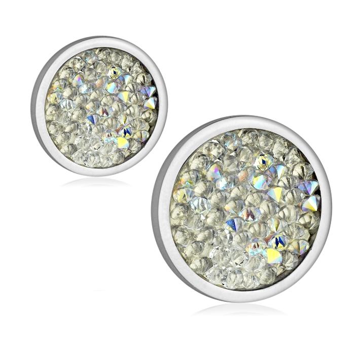 Ocelové náušnice s krystaly Crystals from Swarovski®, CRYSTAL AB LV6002-AB