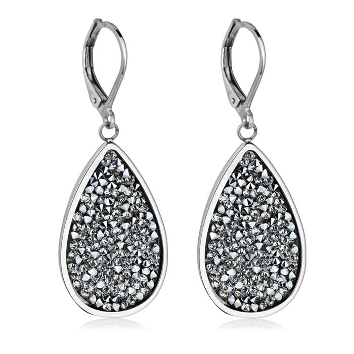 Oceľové náušnice s kryštálmi Crystals from Swarovski ®, CRYSTAL CAL
