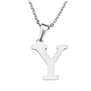 """Ocelový řetízek s přívěškem iniciála """"Y"""""""