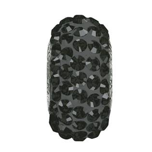 Navlékací přívěšek korálek SLIM s krystaly Swarovski®, JET HEMATITE