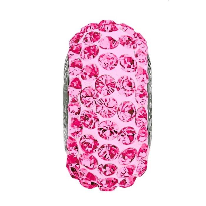 Navliekací prívesok gorálka SLIM s kryštálmi Swarovski ®, ROSE