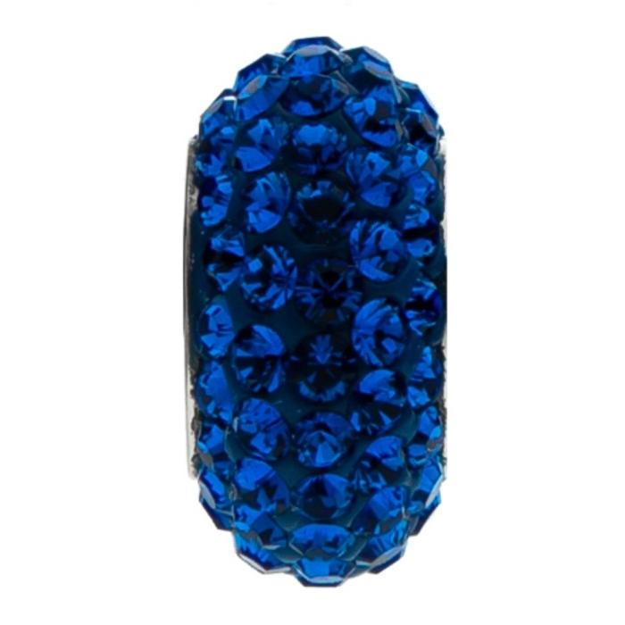 Navliekací prívesok gorálka s kryštálmi Swarovski ®, CAPRI BLUE