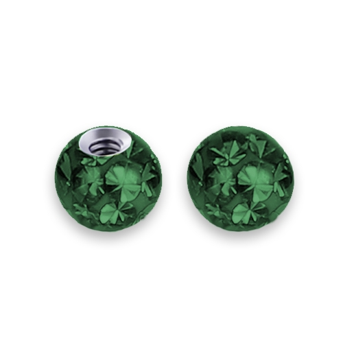 Náhradná gulička s kryštálmi Swarovski ®, 3 mm, závit 1,2 mm, farba tmavo zelená