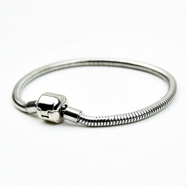 Ocelový náramek - had, délka 18 cm