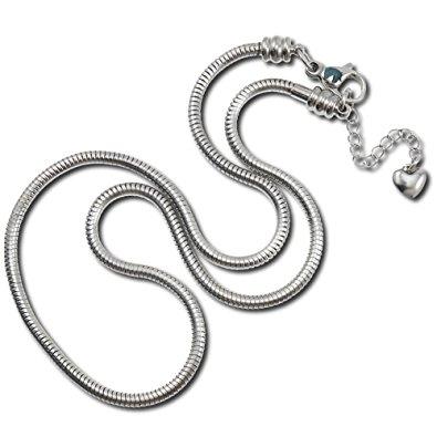 Oceľový náhrdelník - had, dĺžka 45 cm