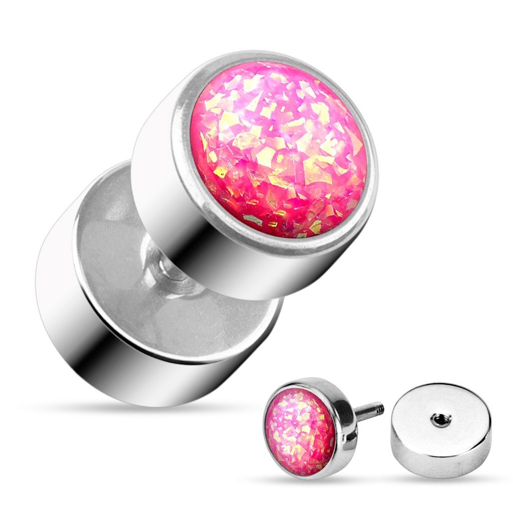 Falošný piercing do ucha - farba ružová