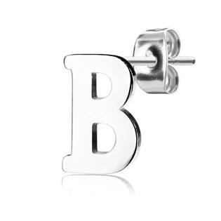 Ocelová náušnice 1ks - iniciála, písmeno OPN1230