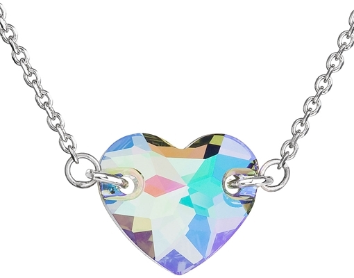 Strieborný náhrdelník srdce Crystals from Swarovski ® Paradise Shine