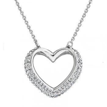 Strieborný náhrdelník s kryštálmi Swarovski ®, Crystal