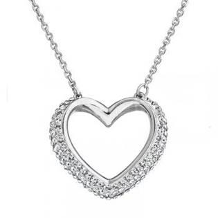 Stříbrný náhrdelník s Crystals from Swarovski®, Crystal