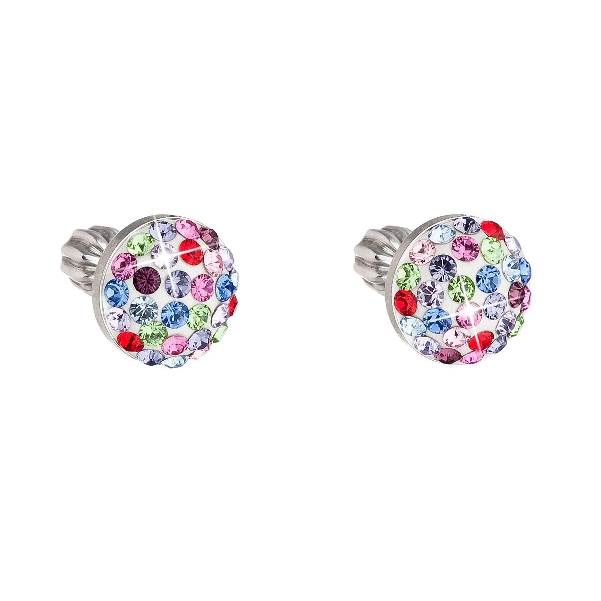 Strieborné náušnice s kryštálmi Crystals from Swarovski ® 337b9281e96