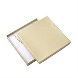 Dárková krabička na soupravu šperků velká - krémová