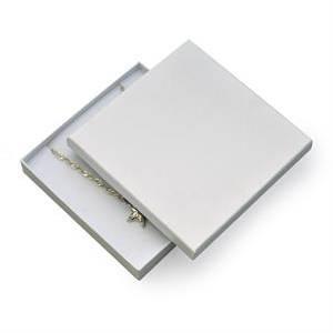 Dárková krabička na soupravu šperků velká - bílá