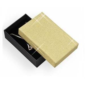 KR0061-GD Dárková krabička zlatá/černá