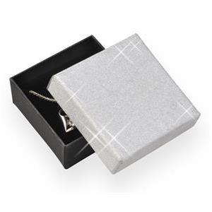Krabička na soupravu šperků, stříbrná