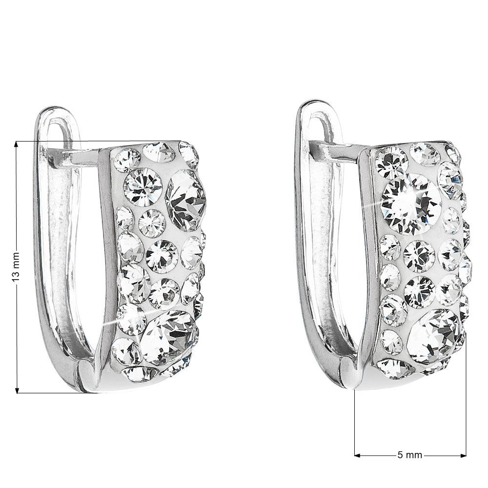 Stříbrné náušnice s krystaly Crystals from Swarovski®, Crystal EG2009-CR