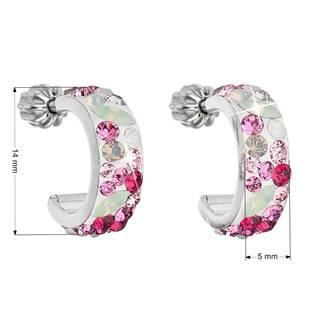 EVOLUTION GROUP CZ Stříbrné náušnice kruhy s krystaly Crystals from Swarovski®, Sweet Love - 31118.3 Sweet Love
