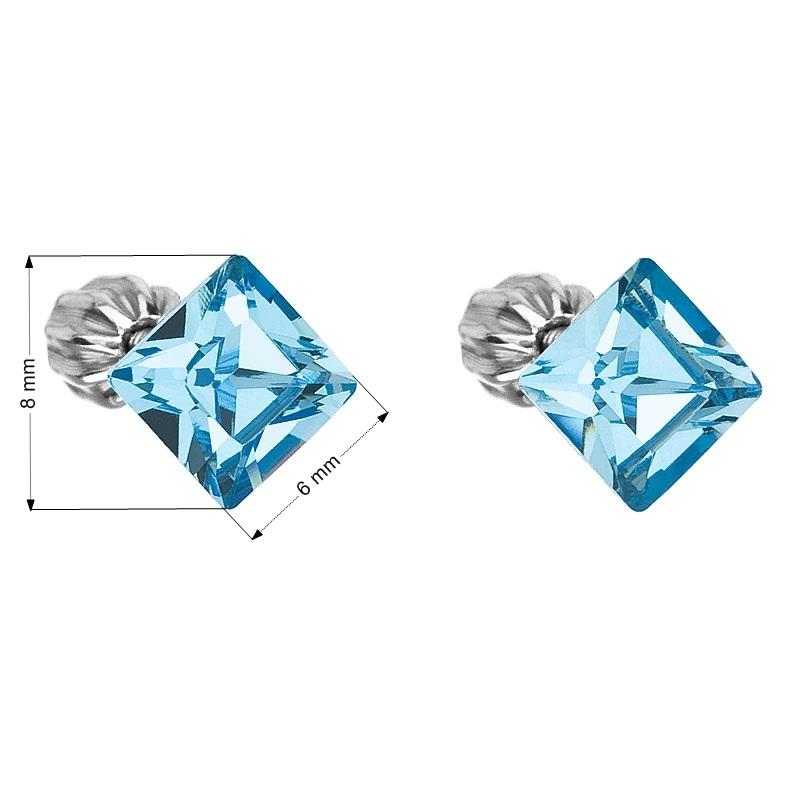 Strieborné náušnice s kryštálmi Crystals from Swarovski ® 6e5bdb699b8