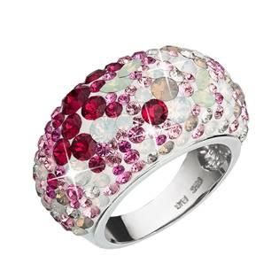 EVOLUTION GROUP CZ Stříbrný prsten s krystaly Crystals from Swarovski®, Sweet Love - velikost 54 - 35028.3