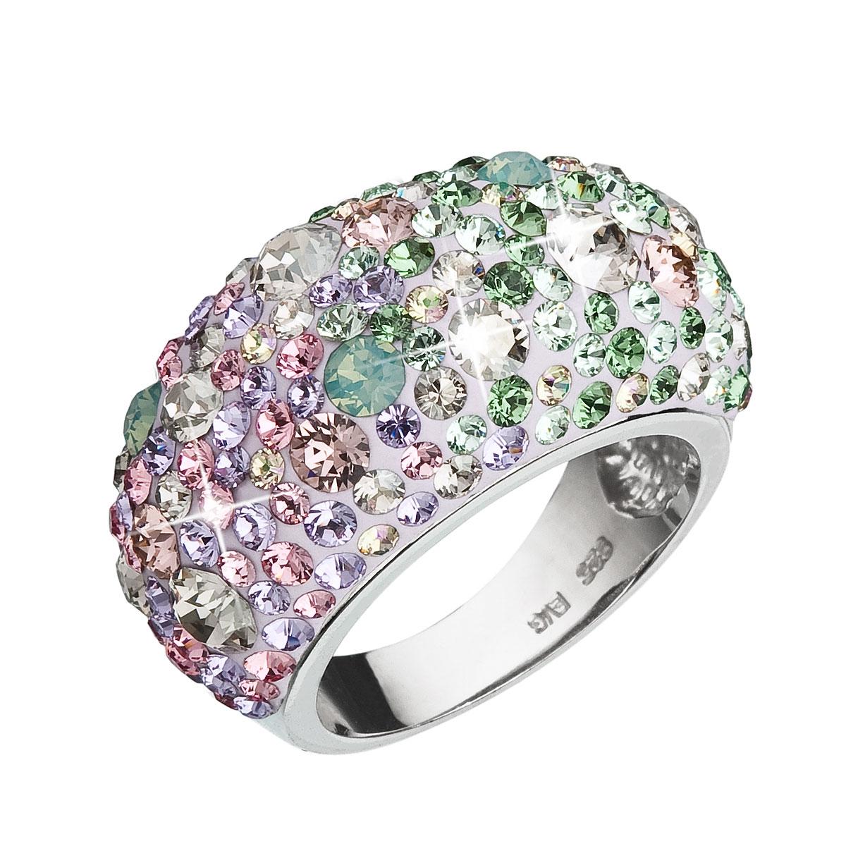 Strieborný prsteň s kryštálmi Crystals from Swarovski ® 46eaa731516