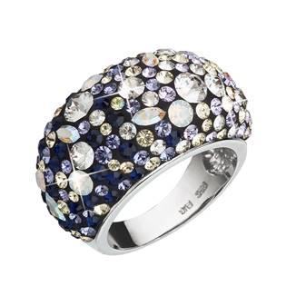 EVOLUTION GROUP CZ Stříbrný prsten s krystaly Crystals from Swarovski®, Indigo - velikost 54 - 35028.3