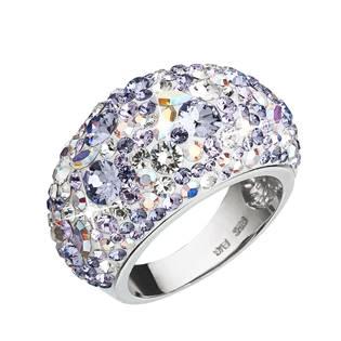 EVOLUTION GROUP CZ Stříbrný prsten s krystaly Crystals from Swarovski®, Violet - velikost 54 - 35028.3