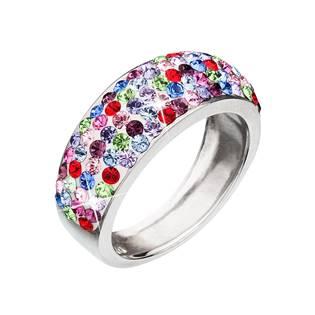 EVOLUTION GROUP CZ Stříbrný prsten s krystaly Crystals from Swarovski®, MIX - velikost 52 - 35027.3