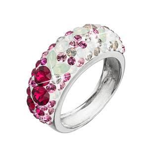 EVOLUTION GROUP CZ Stříbrný prsten s krystaly Crystals from Swarovski®, Sweet Love - velikost 52 - 35031.3