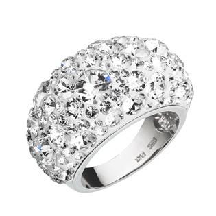 EVOLUTION GROUP CZ Stříbrný prsten s krystaly Crystals from Swarovski®, Crystal - velikost 54 - 35028.1