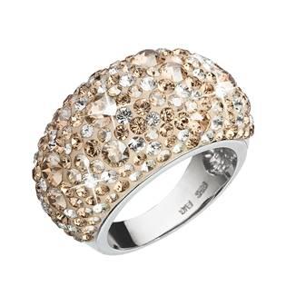 EVOLUTION GROUP CZ Stříbrný prsten s krystaly Crystals from Swarovski®, Gold - velikost 54 - 35028.5
