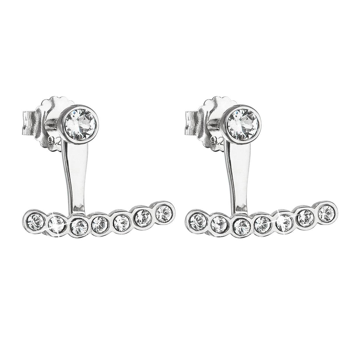 Stříbrné zanáušnice s kamínky Crystals from Swarovski® Crystal EG2526-CR