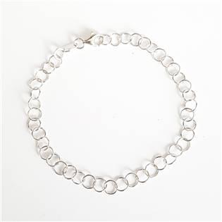 Dámský stříbrný náramek , délka 19 cm
