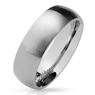Ocelový prsten matný, šíře 8 mm, vel. 60