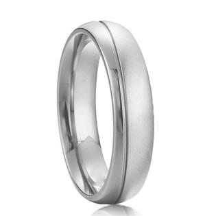 Pánský ocelový prsten, šíře 5,5 mm, vel. 62