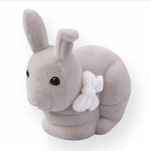 Semišová darčeková krabička - zajačik šedý