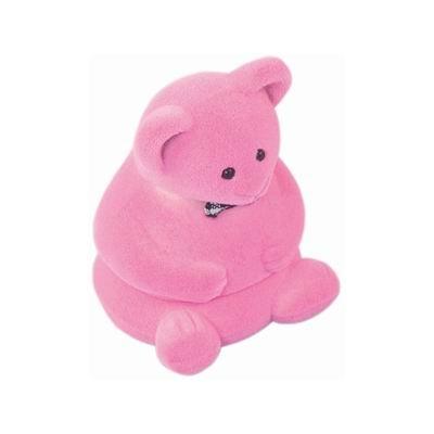 Darčeková krabička semiš - medvedík ružový