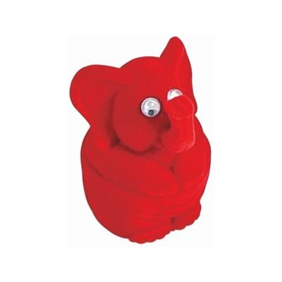 Darčeková krabička semiš - slon červený