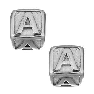 """Navlékací ocelový přívěšek korálek - písmeno """"A"""""""