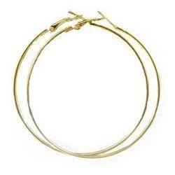 Náušnice - pozlátené kruhy