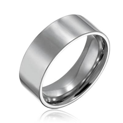 Oceľový prsteň šírka 8 mm