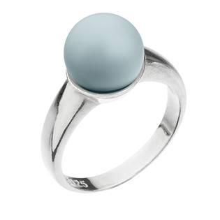 Stříbrný prsten s perlou pastelově modrý