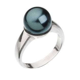 Stříbrný prsten s perlou zelený tahiti