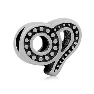 Šperky4U Navlékací ocelový přívěšek korálek - znamení lev - K0012-08