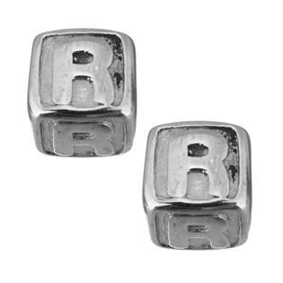 """Navlékací ocelový přívěšek korálek - písmeno """"R"""""""