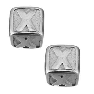 """Navlékací ocelový přívěšek korálek - písmeno """"X"""""""