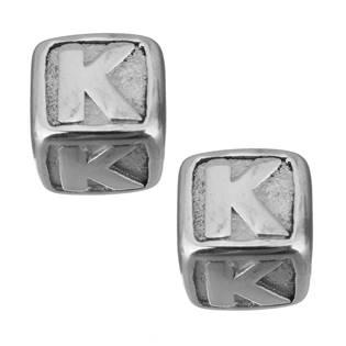 """Navlékací ocelový přívěšek korálek - písmeno """"K"""""""