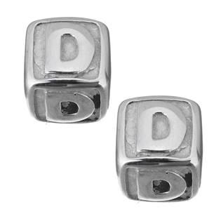 """Navlékací ocelový přívěšek korálek - písmeno """"D"""""""