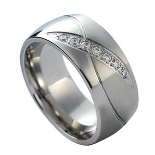 Levně NUBIS® NSS1019 Dámský snubní prsten se zirkony - velikost 60 - NSS1019-Zr-60